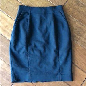 H&M black cotton skirt
